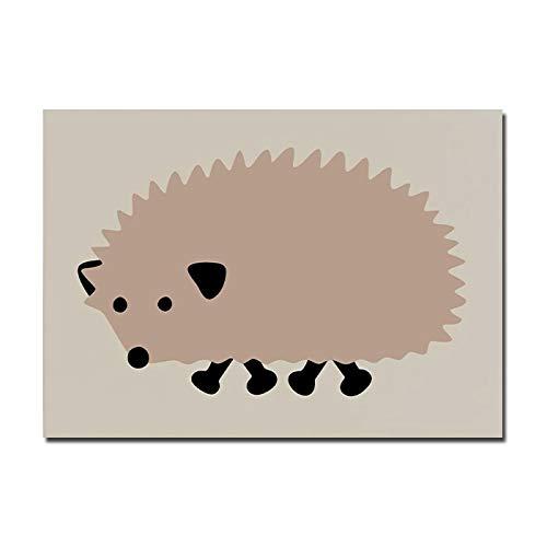 Rahmenlos-50X75cm-Nordisches Plakat Schöne Katze Leinwand Kunstdruck Tier Kinderzimmer Wandmalerei Dekoratives Bild Kind Baby Mädchen Schlafzimmer Dekoration