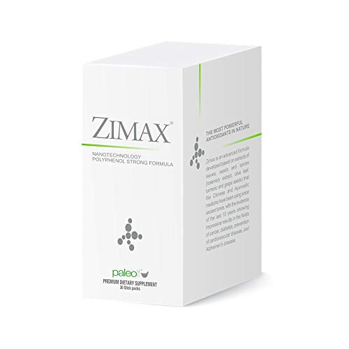 ZIMAX Super ANTIOXIDANT - 100% Natural - High Absorption - Curcumin, Rosemary Extract, Grape Seed Extract, Olive Leaf Extract - ORAC 3,451,770 (Sachet) (1)