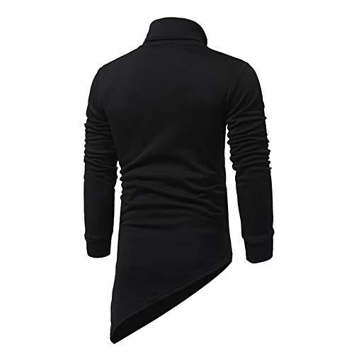 PRJN Autumn and Winter Irregular Men's Casual Sweater Diagonal Zipper Sweater Men's Casual Fashion Diagonal Zipper Long-Sleeve Sweaters Sweatshirts Men's Casual Long-Sleeved Irregular Zipper Sweater