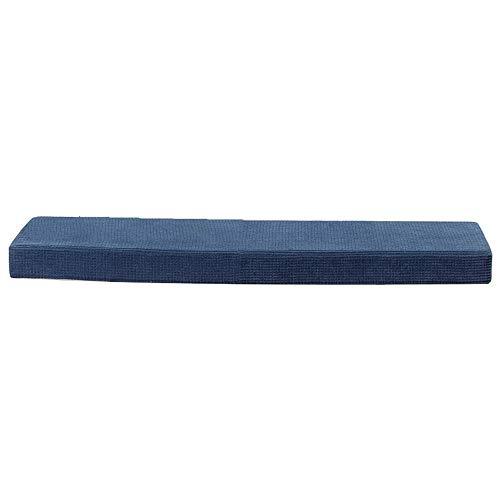 EREAL Las Correas Antideslizantes Retiran Los Cojines De Esponja De Banco,Cojines Largos Rectangulares-Azul 30 * 100 * 7cm