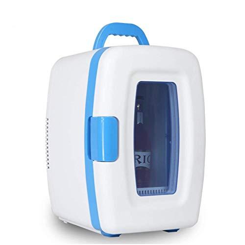 JHDUID Tragbare Gefriertruhe Auto Kühlschrank, Dual-Use 10L elektrische Gefriertruhe Kühler und Wärmer für Auto Road Trips Schlafzimmer Büronutzung (Farbe: Weiß)