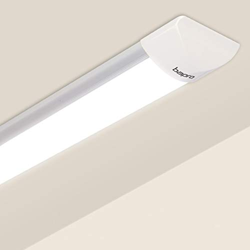 60CM Plafoniera LED, bapro 20W Neon Led Ultraslim Plafoniere da ufficio, Tubo a LED Bianco Neutro 4000K Moderno Pannello Impermeabili Prova Umidità Lampada da Soffitto Seminterrato Garage Officina