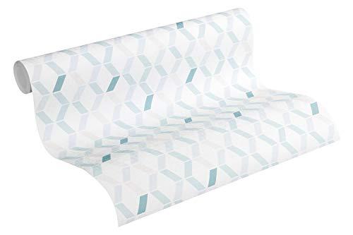 Esprit Vliestapete Afternoon Haze Tapete geometrisch grafisch 10,05 m x 0,53 m blau grau beige Made in Germany 365232 36523-2