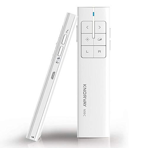 KNORVAY N99 Presenter Laserpointer Pointer Maus, Präsentationsfernbedienung Präsentation Clicker Fernbedienung Präsenter mit Laserpointer für Windows/Mac