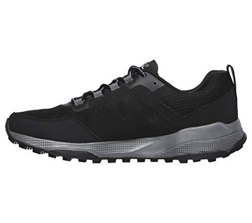 Skechers Men's GOrun Pure Performance Running & Hiking Trail Shoe Running, Black/Grey, Numeric_13
