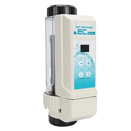 BHDD Sistema de clorador de Sal, 16 g/h Funciones Completas Sistema de generador de Cloro de Piscina de Agua Salada, Electrólisis de Limpieza automática Clorador de Sal para Piscina, Jacuzzi, SPA