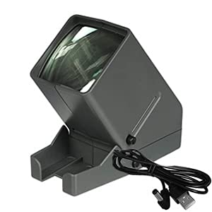 CozyKit LED Lighted Viewing for 35mm Slides & Film Negatives, Desk Top/Portable LED Negative and Slide Viewer 3X Magnification,USB Powered 35mm Film and Slide Viewer