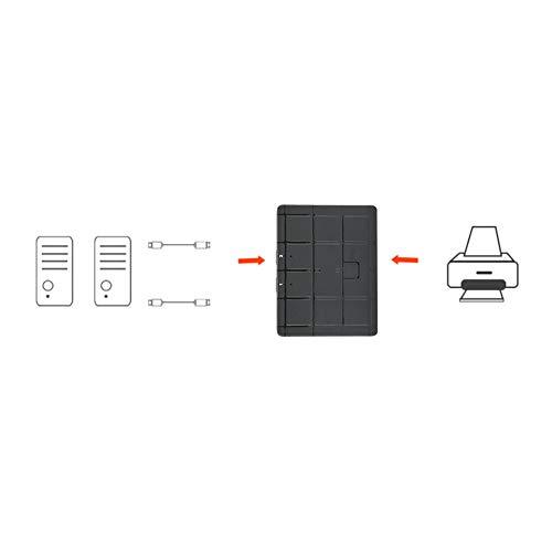 SHYEKYO Interruptor Manual, compartidor de Dos entradas y una Salida 2 Puertos para escáneres para Discos Duros móviles para impresoras USB para Ratones para teclados