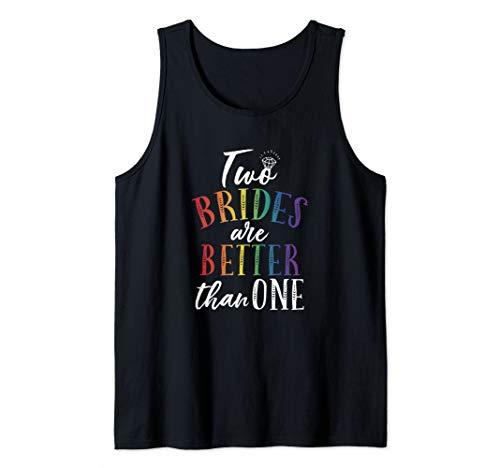 Two Brides Lesbian Marriage Gay Wedding LGBT Ally LGBTQ Love Tank Top