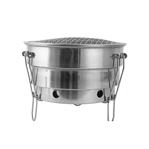 BST&BAO Griglia Portatile a Carbone, griglia a Carbone Portatile Pieghevole, Mini Forno Grill Griglia a Carbone Tonda Pieghevole, griglia da Tavolo per Barbecue per Picnic, Pieghevole