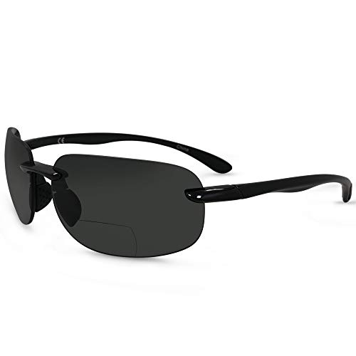 In Style Eyes Lovin Maui Wrap Premium Polarized Bifocal Sunglasses black 2.00