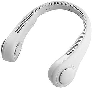 CCID Portable Neck Fan, Hands Free Bladeless Hanging Sport Fan, Wearable Personal Fan, Leafless, Rechargeable, Headphone Design, USB Powered Desk Fan,3 Speeds for Outdoor Indoor(White)