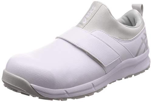 [アシックス] ワーキング 厨房靴 ウィンジョブ CP303 JSAA A種先芯 耐滑ソール αGEL搭載 ホワイト/グレイシャグレー 27.5