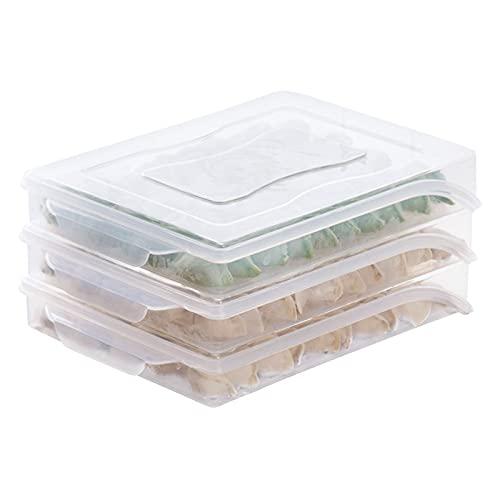 Contenedores de almacenamiento y contenedores de b Caja doméstica de una capa Caja de almacenamiento congeladas con tapa de plástico Envases de alimentos Organizador refrigerador Titular de la caja Co