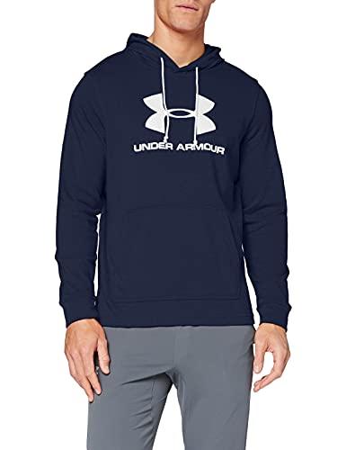 Under Armour Sportstyle Terry Logo Parte Superior del Calentamiento, Hombre, Azul, LG