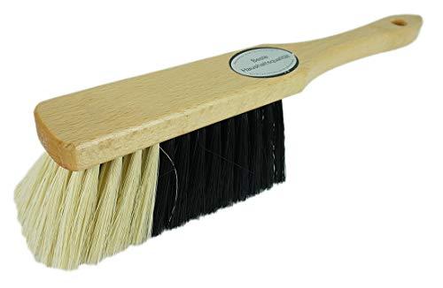 Novaliv 1x Handfeger I feine Kunstborsten I Handbesen Holz I Hand Brush Handkehrer dust pan