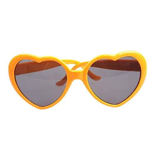 Sharplace 1 Pieza Gafas de Sol de de Mujer, Resistentes a Impactos,Inastillables - Amarillo, 5.5 x 6cm