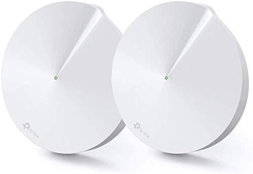 TP-Link WiFi Mesh AC 2200Mbps Deco M9 Plus(2-Pack) Système pour toute la maison - Couverture WiFi de 300㎡ - Installation Facile - Contrôle parental - Compatible avec toutes les Box Fibre