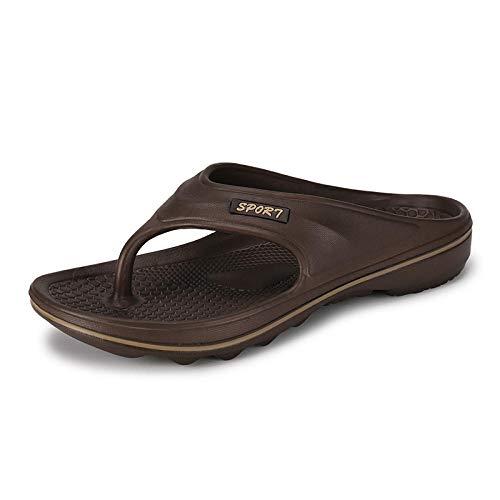 MedusaABCZeus Zapatos de Playa y Piscina para,Chanclas, Sandalias Antideslizantes y Zapatillas para el hogar y el baño.-marrón_41,Chanclas Unisex Adulto