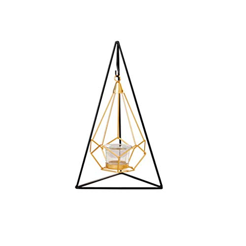 Gold Geometric Wrought Iron Candle Holder Home Decoration Craft Candle Holder Table Ornament Accessories M 5