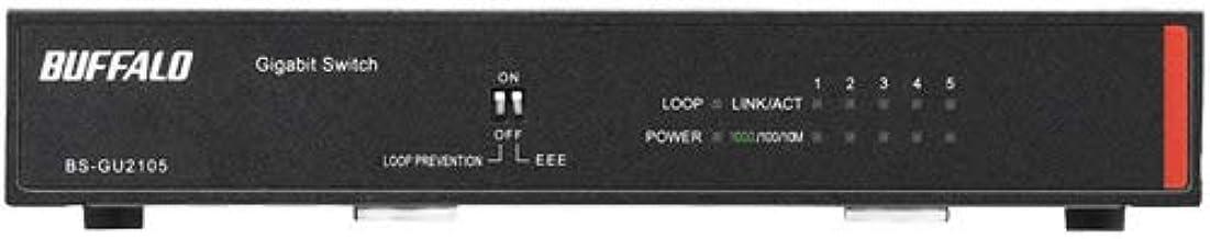 バッファロー BS-GU2105 法人向け Giga対応 Layer2 アンマネージスイッチ 5ポート