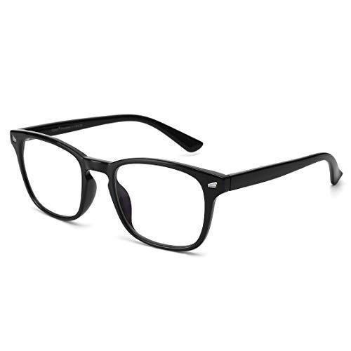 Cyxus Blaulichtfilter Brille【 TR90 Leichtgewichts】Groß Computerbrille zum Blockieren von UV-Kopfschmerz Gaming-Brille, Update Version