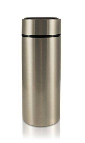 STEELNA Pure Isolierflasche 0,45 L | Edelstahl-Thermoskanne, Thermosflasche, Thermobecher, Isolierkanne (Chrome Grey)