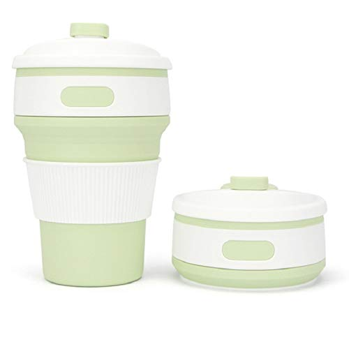 ZZHH Coffee Mugs Travel Collapsable Silicone Cup Fold Water Cups BPA Free Food Grade Drinking Ware...