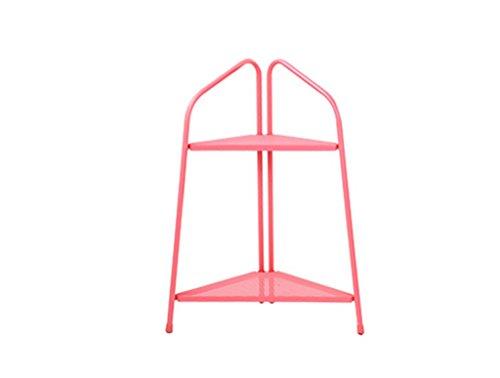 ZHDC® Porte-bagages à fleurs, salon en fer à l'épreuve des intérieurs Balcon à plusieurs couches Porte-pot à fleurs 44 * 47 * 88cm Stable fort espace de sauvegarde ( Couleur : Rose )