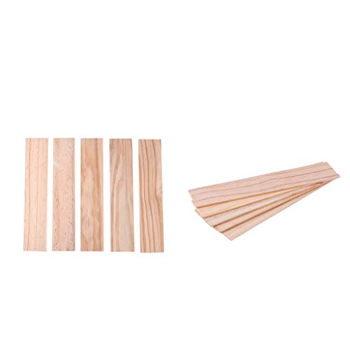 Bonarty 10 Stücke 25x5 cm Holzleiste DIY Sticks Für Sand Tisch Gebäude 3 / 5mm Dicke