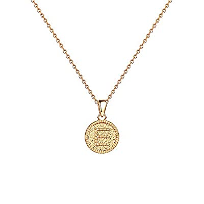 Gifts for Girlfriend Necklace Valentine's Day - 14K Gold Fill Letter E Initial Necklaces Mirror Polished Alphabet Monogram Necklaces Wedding Engagement Bridesmaids Fiancee Wife Girlfriend Gifts Ideas