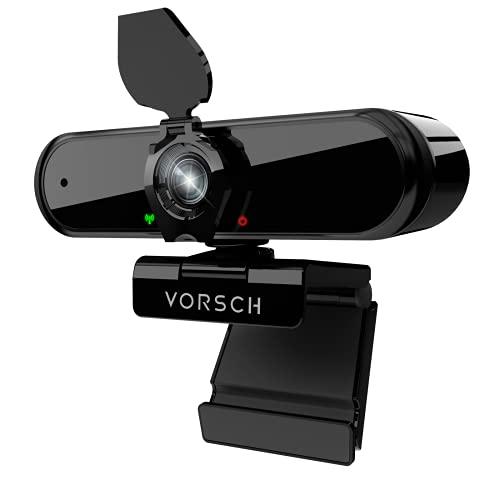 Webcam per PC con Microfono 1080P Web Cam Fisso USB 2.0 Full HD Telecamera Streaming Plug and Play con Clip Regolabile,Copertura Privacy,Grandangolo a 110 Gradi per Videochiamate,Studi,Conferenze