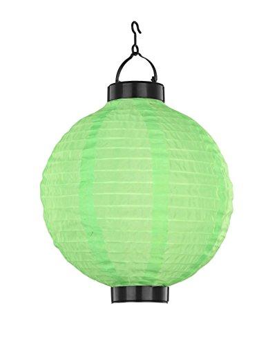 LED Lampion Solarleuchte Solarlampe Gartenbeleuchtung Garten Party (Dekoleuchte, Gartenleuchte, Außenleuchte, 25 x 37 cm, Garten-Deko, Party-Beleuchtung, Grün)