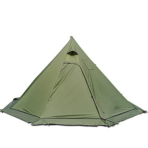 2~4 Personen Leichtes Tipi Heißes Zelt, für Zeltofen Holzofen Campingkocher Outdoor Ofen Holz, Pyramiden Zelt, mit feuerhemmendem Jack, Tipi-Zelte für die Jagd Backpacking Camping Wandern (T2)
