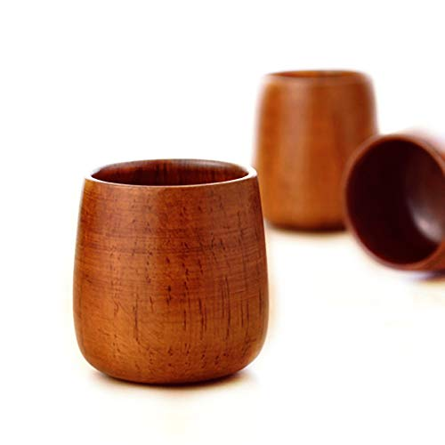 XHWine 3pcs Hand-made Natural Wooden Sake Cup