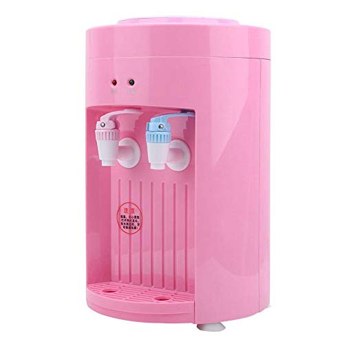 Top Loading Mini Water Dispenser, Freestanding Compact Hot/Cold Water Dispenser Electric Desktop Drink Machine(Pink)