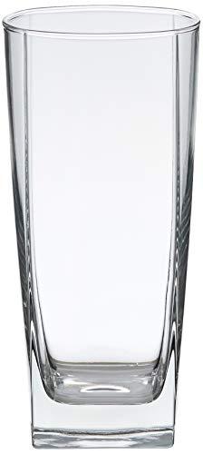 Amazon Basics Serene Coolers Glass Drinkware Set, 16-Ounce, Set of 6