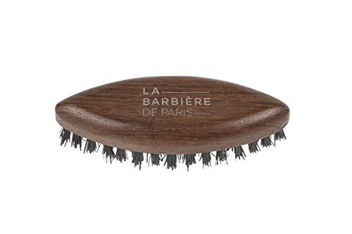 Brosse barbe poche Brosse coiffante barbe Navette Brosse en bois et poils de sanglier La Barbière de Paris Made in France