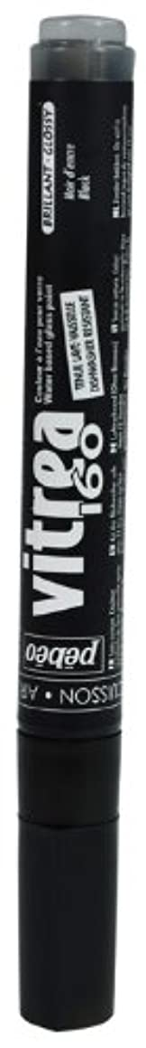 Pebeo Vitrea 160, Glossy Glass Paint Marker - Ink Black (118088)