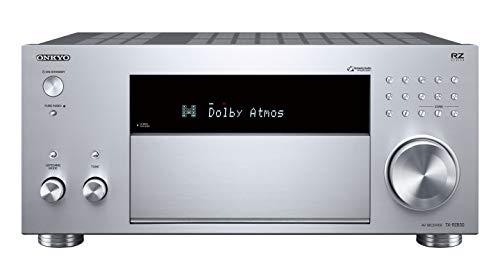 Onkyo TX-RZ830(S) 9.2-Kanal AV Receiver (THX Kinosound, Dolby Atmos, DTS:X, 4K Durchleitung, WLAN, Bluetooth, Musik Streaming, Spotify u.a., Internetradio, Multiroom, 180 W/Kanal), silber