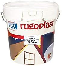 Rugoplast - Pintura fijadora penetrante al agua a base de resinas para fijar superficies de yeso, cemento, escayola y derivados. Es una imprimación previa a la aplicación de pinturas en paredes, 4L