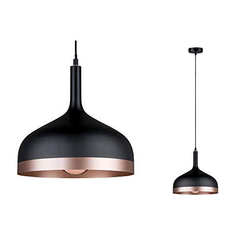 Paulmann 79629 Neordic Embla Pendelleuchte max. 1x20W Hängelampe für E27 Lampen Deckenlampe Schwarz/Kupfer matt 230V Metall ohne Leuchtmittel