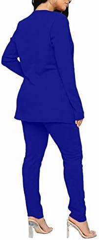 Royal blue womens pant suit _image0