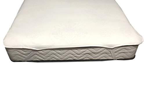 YACOR Protector de colchón impermeable, transpirable, 100% algodón, sin pliegues (140 x 200)