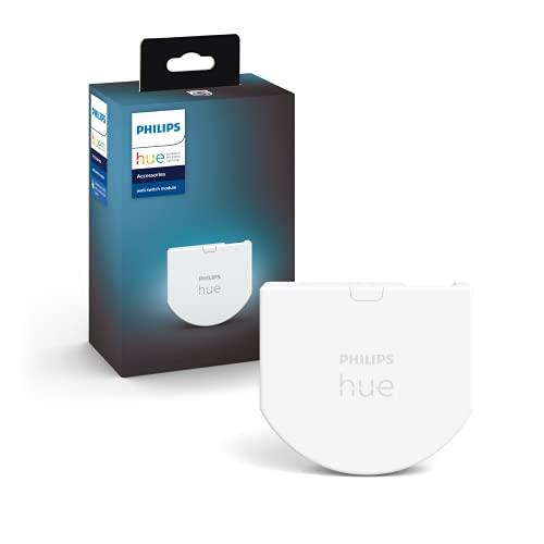 Philips Hue Wall Switch Module, Modulo Interruttore a Parete, Controllo Illuminazione Smart, Bianco