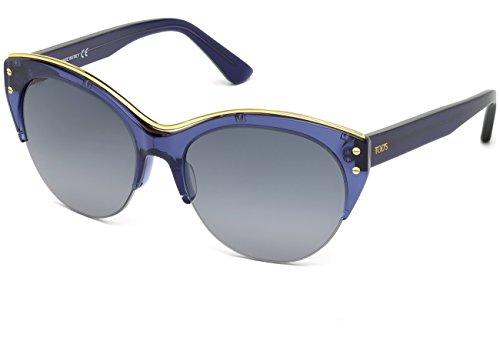 Occhiali da sole Tod's TO0170 C56 90B (shiny blue / gradient smoke)