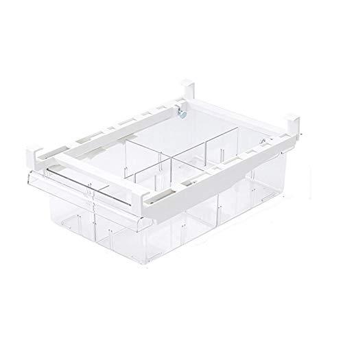 Cajón para frigorífico, 1/4/8 compartimiento, organizador transparente para nevera, congelador y congelador, limpio y ordenado (color: 4 rejillas)