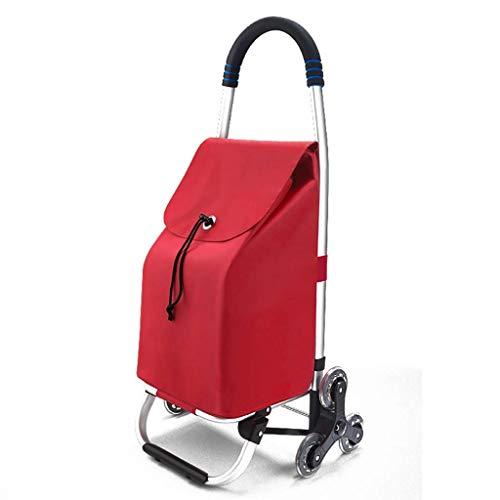 WLG Shopping Carts Für Lebensmittel Mit Rädern Kleinen Wagen Haushalt Licht Falttasche Handgepäckwagen/A