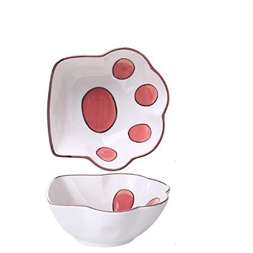 Ciotola Profonda in Ceramica con Artiglio di Gatto Simpatico Piatto in Polvere per Gatti in Polvere per Cartoni Animati Piatto per Snack Piatto per Salsa