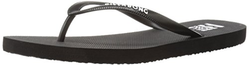 Billabong Women's DAMA Flip Flop, Black/White, 6